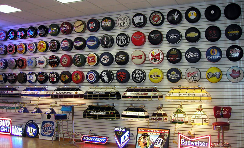Petro Enterprises is also the license and manufacturer of Michael Godard Neon Clocks Bar Stools